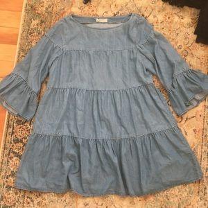 Zara premium denim doll dress size M